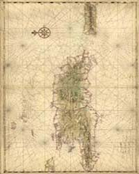 Map of the Islands of Hispaniola and Pue... by Vinckeboons, Joan