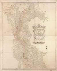 Topographical Map that Includes the Trib... by Varela y Ulloa, José