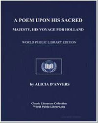 A Poem Upon His Sacred Majesty, His Voya... by Danvers, Alicia