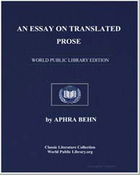 An Essay on Translated Prose by Behn, Aphra