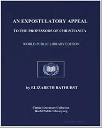An Expostulatory Appeal to the Professor... by Bathurst, Elizabeth