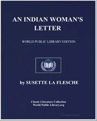 An Indian Woman's Letter by Flesche, Susette La