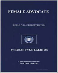 Female Advocate by Egerton, Sarah Fyge