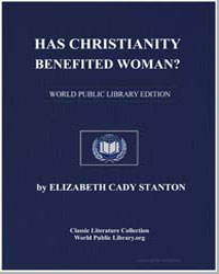 Has Christianity Benefited Woman? by Stanton, Elizabeth Cady