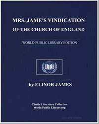 Mrs. Jamess Vindication of the Church of... by James, Elinor