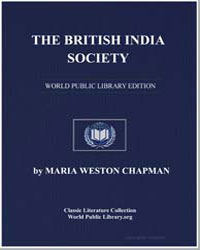 The British India Society by Chapman, Maria Weston