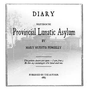 Diary Written in the Provincial Lunatic ... by Pengilly, Mary Huestis