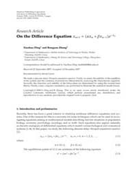 Advances in Difference Equations : Janua... Volume Issue : January 2008 by Agarwal, Ravi P.