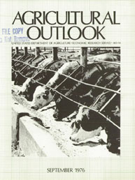 Agricultural Outlook : September 1976 Volume Issue September 1976 by Usda