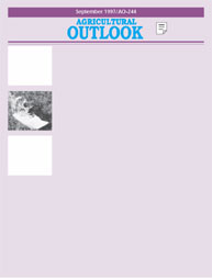 Agricultural Outlook : August 1997 Volume Issue August 1997 by Usda