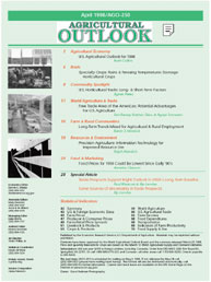 Agricultural Outlook : April 1998 Volume Issue April 1998 by Usda