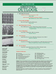 Agricultural Outlook : April 1999 Volume Issue April 1999 by Usda