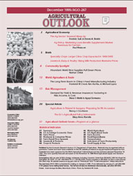 Agricultural Outlook : December 1999 Volume Issue December 1999 by Usda