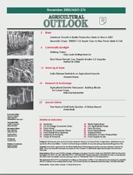 Agricultural Outlook : Noember 2000 Volume Issue November 2000 by Usda