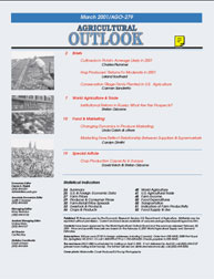 Agricultural Outlook : March 2001 Volume Issue March 2001 by Usda