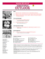 Agricultural Outlook : December 2001 Volume Issue December 2001 by Usda