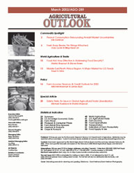 Agricultural Outlook : April 2002 Volume Issue April 2002 by Usda