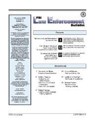 Fbi Law Enforcement Bulletin, November 2... by Horn, Stan Van