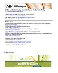Journal of Applied Physics : Lattice con... Volume Issue : November 2008 by C. Suryanarayana and Satyajeet Sharma