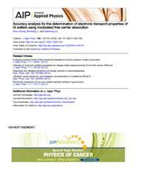 Journal of Applied Physics : Accuracy an... Volume Issue : November 2008 by Xiren Zhang, Bincheng Li, and Xianming Liu
