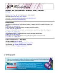 Journal of Mathematical Physics : Additi... Volume Issue : October 2008 by Bill Rosgen