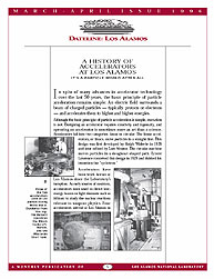 Dateline : Los Alamos; March-April 1996 Volume March-April 1996 by Coonley, Meredith