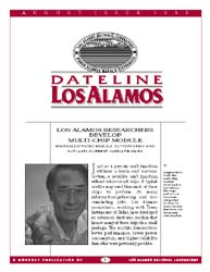 Dateline : Los Alamos; August 1995 Volume August 1995 by Coonley, Meredith