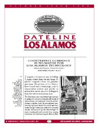 Dateline : Los Alamos; October 1995 Volume October 1995 by Coonley, Meredith