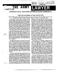 The Army Lawyer : January 1975 ; Da Pam ... Volume January 1975 ; DA PAM 27-50-25 by Alcala, Ronald T. P.