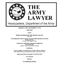 The Army Lawyer : March 2006 ; Da Pam 27... Volume March 2006 ; DA PAM 27-50-394 by Alcala, Ronald T. P.