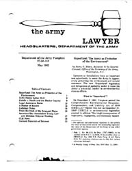 The Army Lawyer : May 1982 ; Da Pam 27-5... Volume May 1982 ; DA PAM 27-50-113 by Alcala, Ronald T. P.