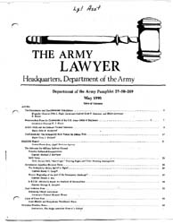 The Army Lawyer : May 1990 ; Da Pam 27-5... Volume May 1990 ; DA PAM 27-50-209 by Alcala, Ronald T. P.