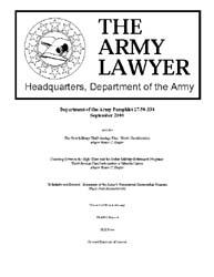 The Army Lawyer : September 2000 ; Da Pa... Volume September 2000 ; DA PAM 27-50-333 by Alcala, Ronald T. P.
