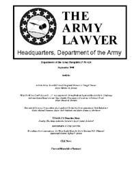 The Army Lawyer : September 2008 ; Da Pa... Volume September 2008 ; DA PAM 27-50-424 by Alcala, Ronald T. P.