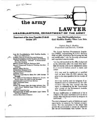 The Army Lawyer : October 1977 ; Da Pam ... Volume October 1977 ; DA PAM 27-50-58 by Alcala, Ronald T. P.