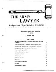 The Army Lawyer : October 1986 ; Da Pam ... Volume October 1986 ; DA PAM 27-50-166 by Alcala, Ronald T. P.