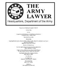 The Army Lawyer : October 2004 ; Da Pam ... Volume October 2004 ; DA PAM 27-50-377 by Alcala, Ronald T. P.