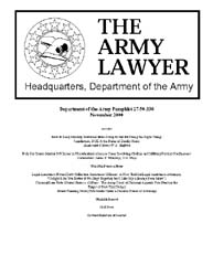 The Army Lawyer : November 2000 ; Da Pam... Volume November 2000 ; DA PAM 27-50-335 by Alcala, Ronald T. P.