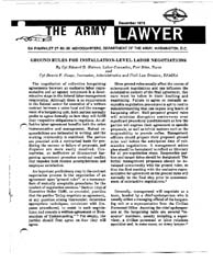 The Army Lawyer : December 1975 ; Da Pam... Volume December 1975 ; DA PAM 27-50-36 by Alcala, Ronald T. P.