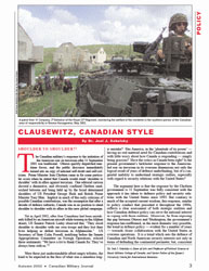 Canadian Military Journal; Autumn 2002 Volume 3, Issue 3 by Bashow, Dave