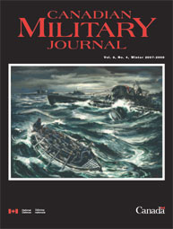 Canadian Military Journal; Winter 2007 Volume 8, Issue 4 by Bashow, Dave