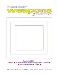 Nuclear Weapons Journal (Nwj); March-Apr... Volume March-April; 2003 by Burgess, Margaret