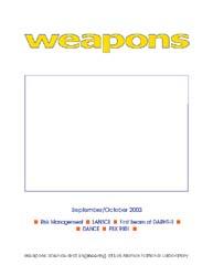 Nuclear Weapons Journal (Nwj); September... Volume September-October; 2003 by Burgess, Margaret