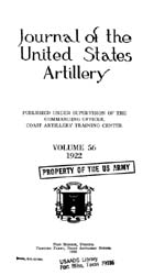 Coast Artillery Journal; January 1922 Volume 56, Issue 1 by Clark, F. S.