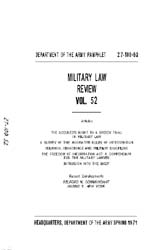 Military Law Review : April 1971 ; Volum... by Department of the Army, Headquarters