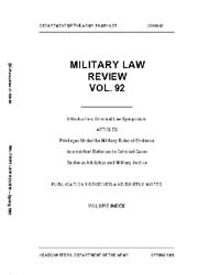 Military Law Review : April 1981 ; Volum... by Department of the Army, Headquarters
