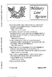 Military Law Review : April 1989 ; Volum... by Department of the Army, Headquarters