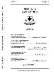 Military Law Review : April 1994 ; Volum... by Department of the Army, Headquarters