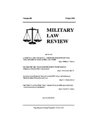 Military Law Review : Winter 2008 ; Volu... by Department of the Army, Headquarters
