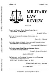 Military Law Review : December 1998 ; Vo... by Department of the Army, Headquarters